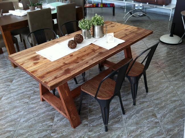 Τραπεζαρία ARIANNA από μασίφ ξύλο πεύκο 6-12 ατόμων