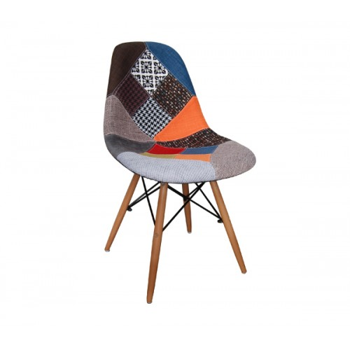 καρέκλα ξύλινη ενιαίου χώρου art wood patchwork new