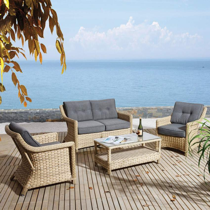 WICKER RATTAN SET N11